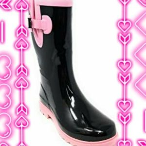 Forever young two tone rubber rainboots